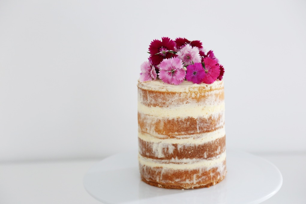 Raspberry and Strawberry Naked Cake Recipe Beyond Our Sky